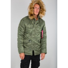 Alpha Industries Slimfit N3B Parka Sage Green