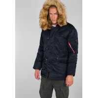 Alpha Industries Slimfit N3B Parka Replica Blue