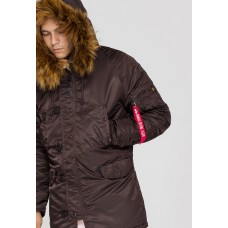 Alpha Industries Slimfit N3B Parka Deep Brown