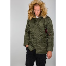 Alpha Industries Slimfit N3B Parka Dark Green