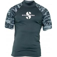 Scubapro UPF 50 Graphite vyriški rash guard trumpomis rankovėmis