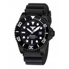 KHS Typhoon Black Steel watch